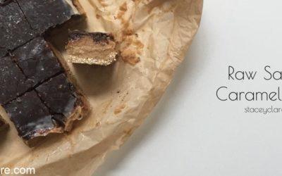 Raw Salted Caramel Slice