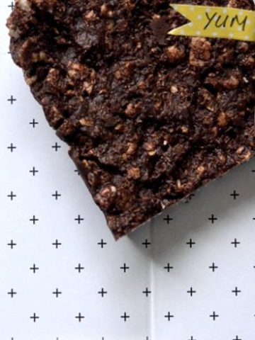Healthy kids chocolate slice for the kids lunchbox