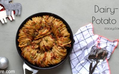 Healthy cheese and egg free potato bake recipe