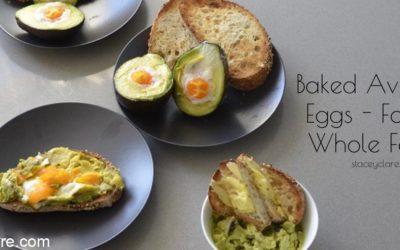 Baked avocado egg recipe for kids