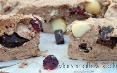 healthy homemade rocky road recipe with chocolate and nuts